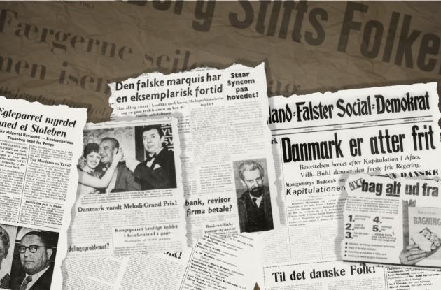 Udklip fra historiske danske avissider